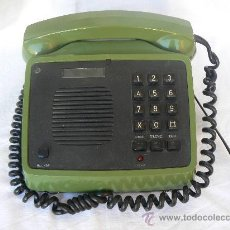 Teléfonos: TELEFONO DE MESA.MARCA AMPER(ESPAÑA).MANOS LIBRES.RECIBE LLAMADAS Y SUENA.EL TECLADO NO MARCA.VERDE. Lote 30210845