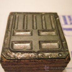 Antigüedades: ANTIGUO TAMPÓN-SELLO METÁLICO.ESCUDO CATALÁN-32X32 MM-.. Lote 26072660