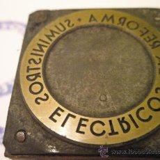 Antigüedades: ANTIGUO SELLO-TAMPÓN DE EMPRESA CATALANA.. Lote 26193029