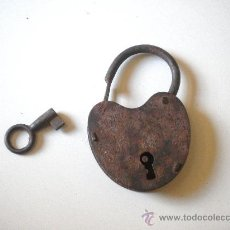 Antigüedades: CANDADO CON LLAVE FUNCIONANDO, . Lote 26396841