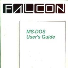 Antigüedades: FALCON MS DOS VERSION 3.1 USER`S GUIDE 1986, INCLUYE LIBRO DE 302 PGINAS (EN INGLES) Y SU CAJA. Lote 26279816