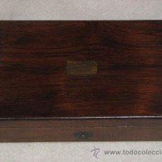 Antigüedades: CAJA INGLESA DE COMPASES (DIBUJO). Lote 26824673