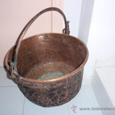 Antigüedades: CALDERA DE COBRE. Lote 26999315
