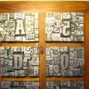 Antigüedades: IMPRENTA LETRAS DE PLOMO - COLLAGE TIPOGRAFICO - PIEZA ÚNICA - M-2. Lote 27108925