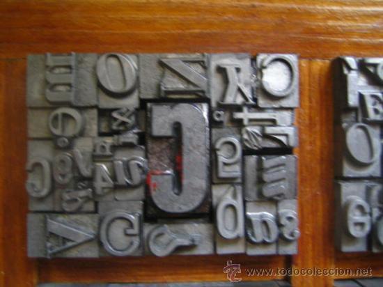 Antigüedades: imprenta letras de plomo - collage tipografico - pieza única - M- 4 - Foto 3 - 27113544