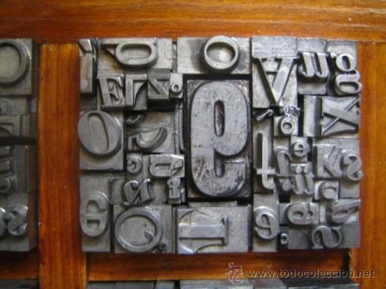 Antigüedades: imprenta letras de plomo - collage tipografico - pieza única - M- 4 - Foto 4 - 27113544