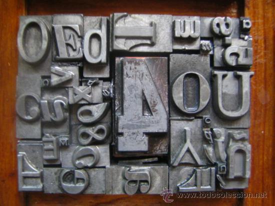Antigüedades: imprenta letras de plomo - collage tipografico - pieza única - M- 4 - Foto 5 - 27113544