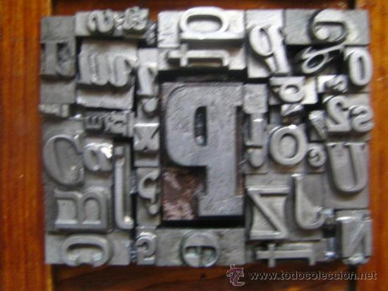 Antigüedades: imprenta letras de plomo - collage tipografico - pieza única - M- 4 - Foto 6 - 27113544