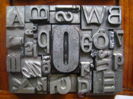Antigüedades: imprenta letras de plomo - collage tipografico - pieza única - M- 4 - Foto 7 - 27113544
