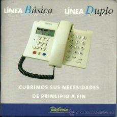 Teléfonos: MANUAL DE INTRUCCIONES TELÉFONO - LÍNEA BÁSICA - LÍNEA DUPLO - TELEFONICA. Lote 27150423