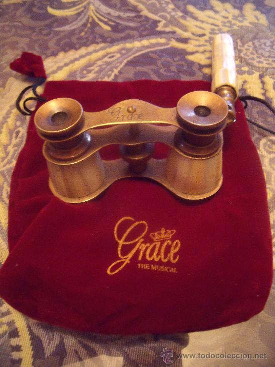 BINOCULARES IDENTICOS AL DE GRACE KELLY. (Antigüedades - Técnicas - Instrumentos Ópticos - Binoculares Antiguos)