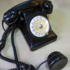 Teléfonos: TELEFONO, ANTIGUO, PTT, APPARERIL MOBILE, BAQUELITA, NEGRO. Lote 27730106