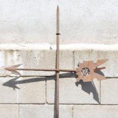 Antigüedades: ANTIGUA VELETA EN HIERRO FORJADO DEL SIGLO XVII. 1600-1640. Lote 27284638