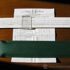 Antigüedades: REGLA DE CALCULO RUSA 1976 CON INSTRUCCIONES CALCULADORA SLIDE RULE RECHENSCHIEBER. Lote 27348119