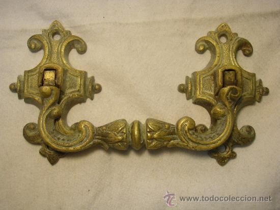 Antigüedades: TIRADOR DE BRONCE DE FINALES DEL XIX - Foto 4 - 27353201