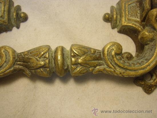 Antigüedades: TIRADOR DE BRONCE DE FINALES DEL XIX - Foto 2 - 27353201