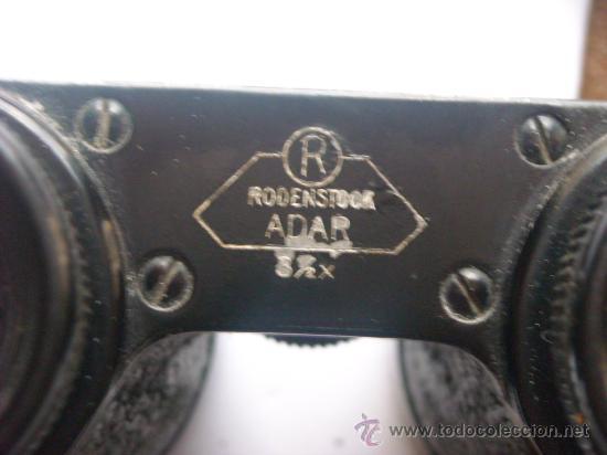 Antigüedades: Prismaticos Rodenstock Adar 3 1/2X Funda origen Circa 1930 - Foto 7 - 27403862