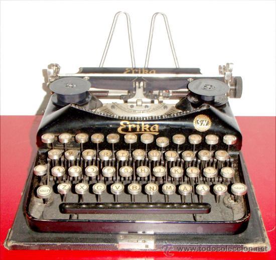 MAQUINA DE ESCRIBIR ERIKA PORTATIL (Antigüedades - Técnicas - Máquinas de Escribir Antiguas - Erika)