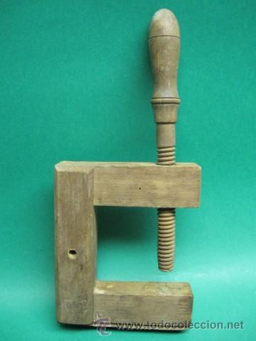Antiguo gato de carpintero en madera comprar for Gato de carpintero