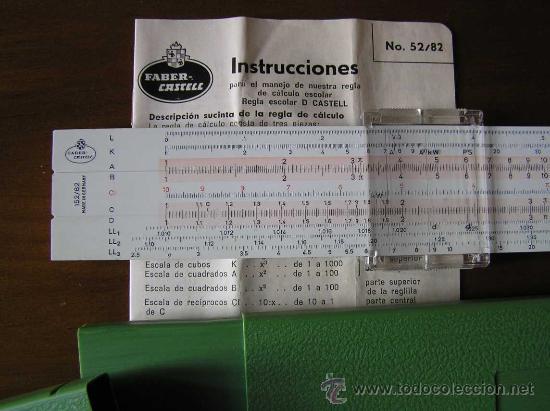 Antigüedades: REGLA DE CALCULO FABER CASTELL 152/82 - CALCULADORA - SLIDE RULE RECHENSCHIEBER - - Foto 3 - 27509296