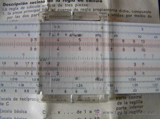 Antigüedades: REGLA DE CALCULO FABER CASTELL 152/82 - CALCULADORA - SLIDE RULE RECHENSCHIEBER - - Foto 5 - 27509296