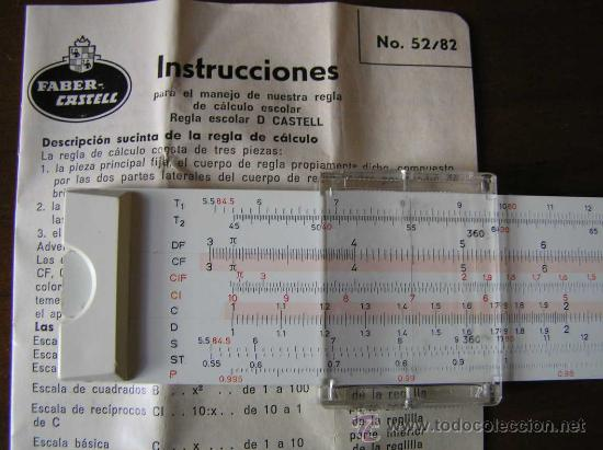Antigüedades: REGLA DE CALCULO FABER CASTELL 152/82 - CALCULADORA - SLIDE RULE RECHENSCHIEBER - - Foto 7 - 27509296