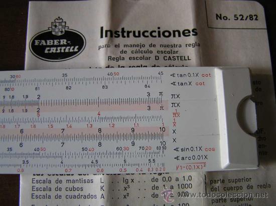 Antigüedades: REGLA DE CALCULO FABER CASTELL 152/82 - CALCULADORA - SLIDE RULE RECHENSCHIEBER - - Foto 9 - 27509296