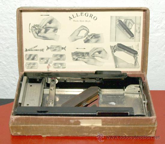 MAQUINA DE AFILAR CUCHILLAS ALEGRO (Antigüedades - Técnicas - Barbería - Maquinillas Antiguas)