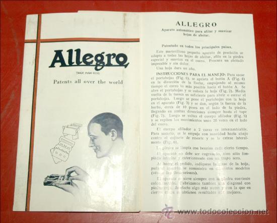 Antigüedades: MAQUINA DE AFILAR CUCHILLAS ALEGRO - Foto 4 - 27552600