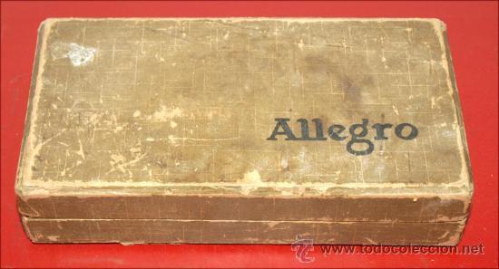 Antigüedades: MAQUINA DE AFILAR CUCHILLAS ALEGRO - Foto 5 - 27552600