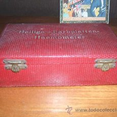 Antigüedades: ANTIGUO HEMOMETRO HELLIGE- FARBPLATTEN.. Lote 27644536