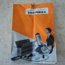 Antigüedades: MANUAL DE INSTRUCCIONES DEL ASPIRADOR ELECTROLUX MODELO 61. PRINCIPIOS DE LOS 60. Lote 27644557