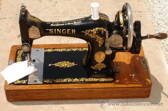 Preciosa y antigua maquina de coser singer 128 - Vendido