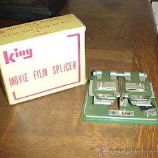 Antigüedades: KING MOVIE FILM SPLICER. SUPER 8 MM, REGULAR 8 MM & 16 MM. ASANUMA & CO. LTD. JAPAN.. Lote 27706556