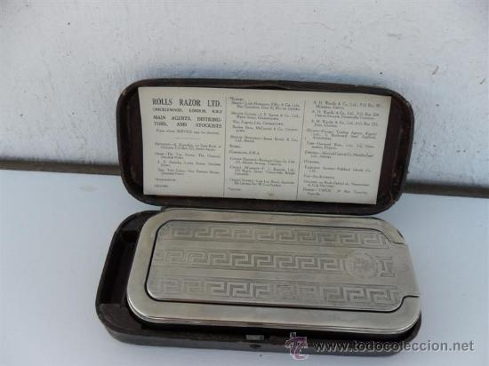 Antigüedades: afilador de cuchillas de afeitar - Foto 2 - 27726712