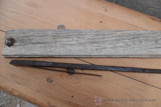 Antigüedades: antiguo cerrojo forja,hierro,grande - Foto 5 - 27768529