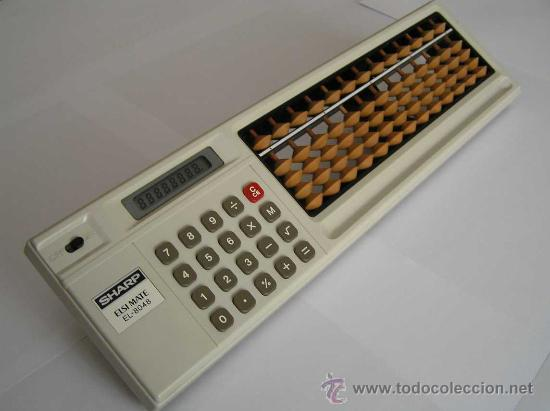 CALCULADORA SHARP ELSI MATE EL-8048 COMBINACION DE CALCULADORA ELECTRONICA Y ABACO ABACUS SOROTAKU (Antigüedades - Técnicas - Aparatos de Cálculo - Ábacos Antiguos)