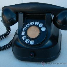Teléfonos: TELEFONO SOBREMESA DE HIERRO NEGRO FUNCIONANDO , SONIDO ESPECTACULAR ,,,TEL365. Lote 27920965