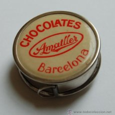Antigüedades: CINTA MÉTRICA, CON PROPAGANDA CHOCOLATES AMETLLER. Lote 27935491