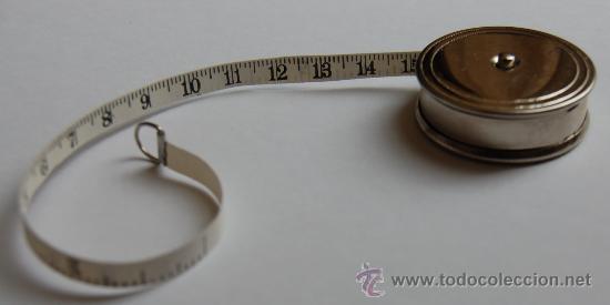 Antigüedades: Cinta métrica, con propaganda Chocolates Ametller - Foto 3 - 27935491