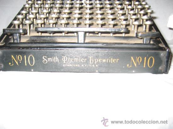 Antigüedades: Espectacular máquina de escribir Smith Premier nº 10 (Teclado doble) - Foto 2 - 27957946