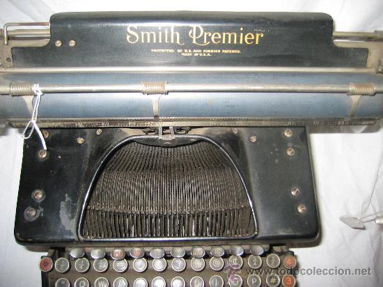 Antigüedades: Espectacular máquina de escribir Smith Premier nº 10 (Teclado doble) - Foto 3 - 27957946