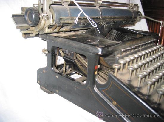 Antigüedades: Espectacular máquina de escribir Smith Premier nº 10 (Teclado doble) - Foto 4 - 27957946