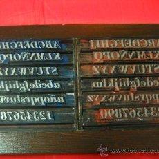 Antigüedades: IMPRENTA - LETRAS DE PLOMO - CUADRO COLLAGE TIPOGRAFICO - REF 48 BODONI REDONDA-CURSIVA. Lote 251060875