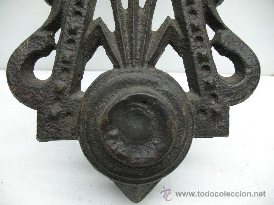 Antigüedades: ANTIGUO LLAMADOR DE PUERTA - DE METAL - Foto 3 - 28044680
