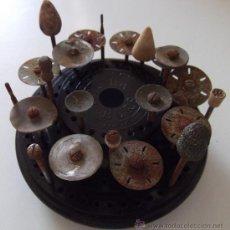Antigüedades: HERRAMIENTAS DE DENTISTA, SOLILA BURS, SOPORTE DE BAQUELITE. Lote 53078718