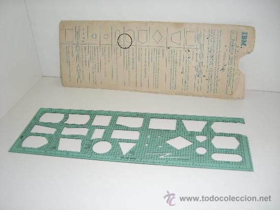 PLANTILLA IBM PARA DIAGRAMAS DE FLUJO Y ORGANIGRAMAS DE 1979 (Antigüedades - Técnicas - Ordenadores hasta 16 bits (anteriores a 1982))