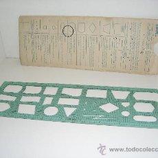 Antigüedades: PLANTILLA IBM PARA DIAGRAMAS DE FLUJO Y ORGANIGRAMAS DE 1979. Lote 28184628