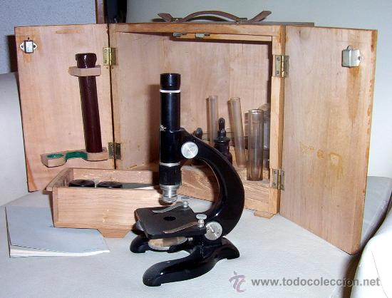 MICROSCOPIO ANTIGUO KAVEX - - AÑOS 50 (Antigüedades - Técnicas - Instrumentos Ópticos - Microscopios Antiguos)