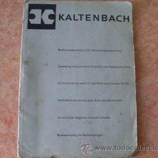 Antigüedades: HANS KALTENBACH,INSTRUCCIONES DE SERVICIO SIERRAS CIRCULARES EN FRIO,AÑOS 50.EN FRANCES. Lote 28264764